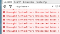JS错误Uncaught SyntaxError: Unexpected token < 分析及解决方法