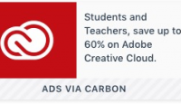Students and Teachers, save up to 60% on Adobe Creative Cloud